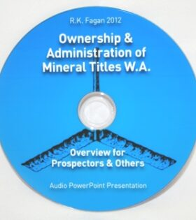 CD Ownership & Administration of Mineral Titles WA