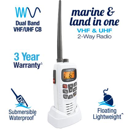 Uniden Marine & Land VHF-UHF MHS155UV